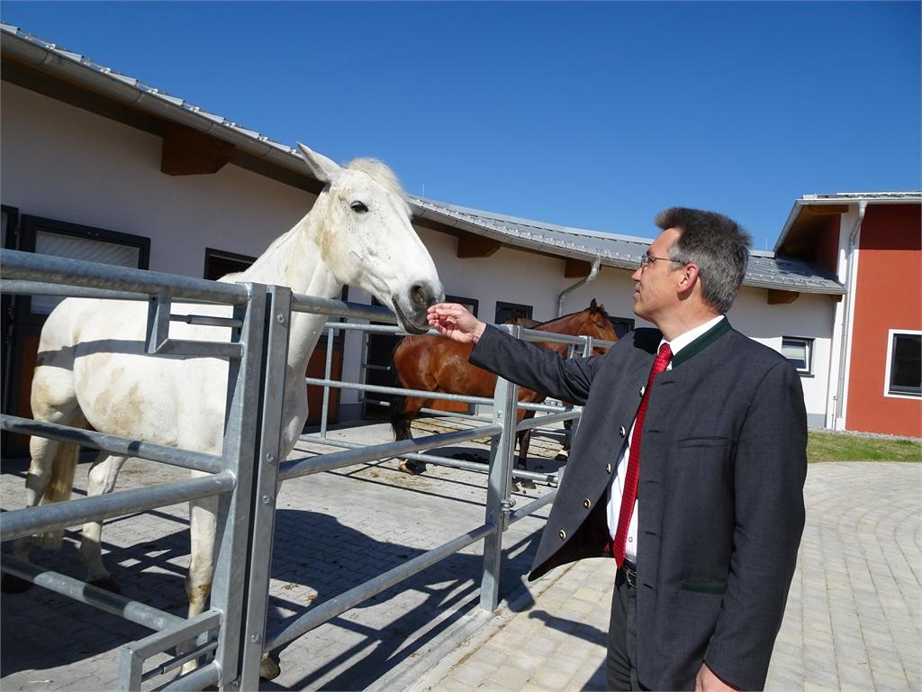 Pferdeunterkunft der Reiterstaffel der Polizei Rosenheim